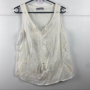 Women's Just Jeans Off White V-Neck Blouse Size 10